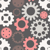 Seamless pattern with gears stock illustration