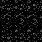Vector abstract seamless pattern with pacman gears Stock Photography