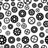 Seamless pattern with Gears Stock Photo