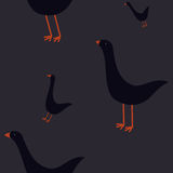 Seamless pattern with geese Royalty Free Stock Image