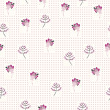 Seamless pattern with the gentle flowers Royalty Free Stock Image