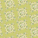 Seamless pattern with gentle light yellow flowers Stock Image
