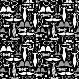 Seamless pattern with gentleman's accessories Royalty Free Stock Image