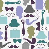 Seamless pattern gentlemen's accessories Stock Photo