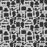 Seamless pattern with gentlemen's accessories Royalty Free Stock Image