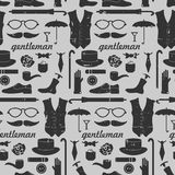 Seamless pattern for gentlemen Royalty Free Stock Photography