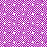 Purple Geometric Squares Greek seamless pattern. Seamless pattern geometric background with purple greek key squares royalty free illustration