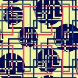Seamless pattern of geometric circles Stock Photos