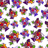 Seamless pattern. Seamless geometric pattern, colorful and stylized stock illustration