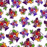 Seamless pattern. Seamless geometric pattern, colorful and stylized Stock Images