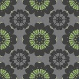 Seamless pattern with geometric colors. The combination of gray and green. Stock Photos