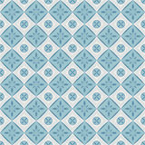 Seamless pattern with geometric diamond shapes and flowers. Royalty Free Stock Photos