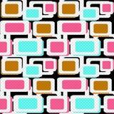 Seamless pattern geometric background. Seamless pattern with geometric elements background Royalty Free Stock Photography