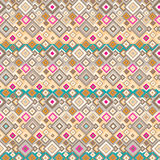 Seamless  pattern with geometric elements. Seamless hippie pattern with geometric elements Stock Photo