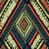 Seamless pattern with geometric elements. Stock Image