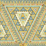 Seamless pattern with geometric elements. Stock Photography