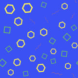 Seamless pattern with geometric figures Royalty Free Stock Photography