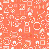 Seamless pattern with geometric figures in the Memphis style. Vector. Illustration Stock Images