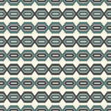 Seamless pattern with geometric figures. Repeated diamond abstract background. Ethnic and tribal motif. Royalty Free Stock Photo