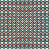 Seamless pattern with geometric figures. Repeated diamond abstract background. Ethnic and tribal motif. Stock Image