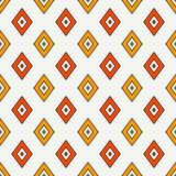 Seamless pattern with geometric figures. Repeated diamond ornamental abstract background. Rhombuses motif. Royalty Free Stock Images