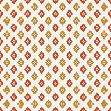 Seamless pattern with geometric figures. Repeated diamond ornamental abstract background. Rhombuses motif. Stock Photos