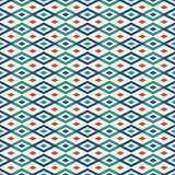 Seamless pattern with geometric figures. Repeated diamond ornamental background.  Stock Image