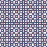 Seamless pattern with geometric figures. Repeated squares ornamental abstract background. Checkered wallpaper. Pastel colors digital paper, textile print, page Royalty Free Stock Photo