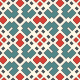 Seamless pattern with geometric figures. Repeated squares and rhombuses   Royalty Free Stock Photography