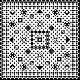 Seamless pattern of geometric form on a white bacground. vector illustration
