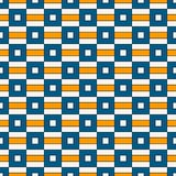 Seamless pattern with geometric ornament. Repeated bright square and stripes abstract background. Vivid surface texture. Seamless pattern with geometric royalty free illustration
