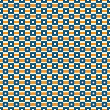 Seamless pattern with geometric ornament. Repeated bright square and stripes abstract background. Vivid surface texture. Seamless pattern with geometric stock illustration