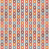 Seamless pattern with geometric ornament. Repeated bright square and stripes background. Vivid colors surface texture. Royalty Free Stock Photography