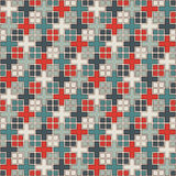 Seamless pattern with geometric ornament. Repeated squares and crosses abstract background. Modern surface texture. Royalty Free Stock Photos