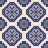 Seamless pattern geometric ornament Stock Image