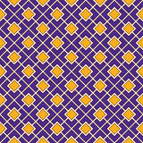 Seamless pattern with geometric ornament. Vivid diagonal square chain abstract background. Bright mosaic wallpaper. Stock Photography