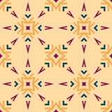 Seamless pattern with geometric ornaments Royalty Free Stock Photography