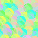 Seamless pattern geometric pastel colorful simple comb or brush looking pieces made from circles together funny modern Royalty Free Stock Photo