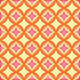 Seamless pattern, geometric pattern, abstract, rounds pattern. Modern stylish texture, pattern with orange and pink ornament Stock Photography