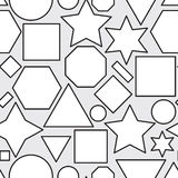 Seamless pattern with geometric shapes Royalty Free Stock Images