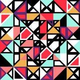 Seamless pattern geometric shapes Stock Photo