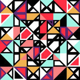 Seamless pattern geometric shapes royalty free illustration