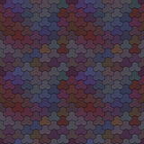 Seamless pattern of geometric shapes. Colorful mosaic backdrop. Stock Photography
