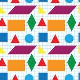 Seamless pattern of geometric shapes Royalty Free Stock Photo
