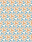 Seamless pattern from geometric shapes. Optical illusion of motion. Seamless pattern from geometric shapes. Rotation of triangles. Optical illusion of motion Stock Images