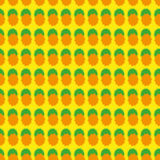 Seamless pattern with geometric shapes orange and green on a yellow background Royalty Free Stock Photos