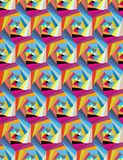 Seamless pattern from geometric shapes. Optical illusion of motion. Seamless pattern from geometric shapes. Rotation of triangles. Optical illusion of motion Royalty Free Stock Image
