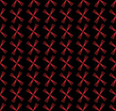 Seamless pattern with geometric shapes and symbols on. A blak background Royalty Free Illustration