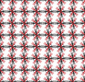 Seamless pattern with geometric shapes and symbols on. A colored background Stock Illustration