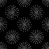 Seamless pattern with geometric shapes and symbols. On a   on a dark background Royalty Free Illustration